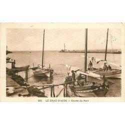 34 LE GRAU D'AGDE. Retour des Pêcheurs à l'Entrée du Port 1935