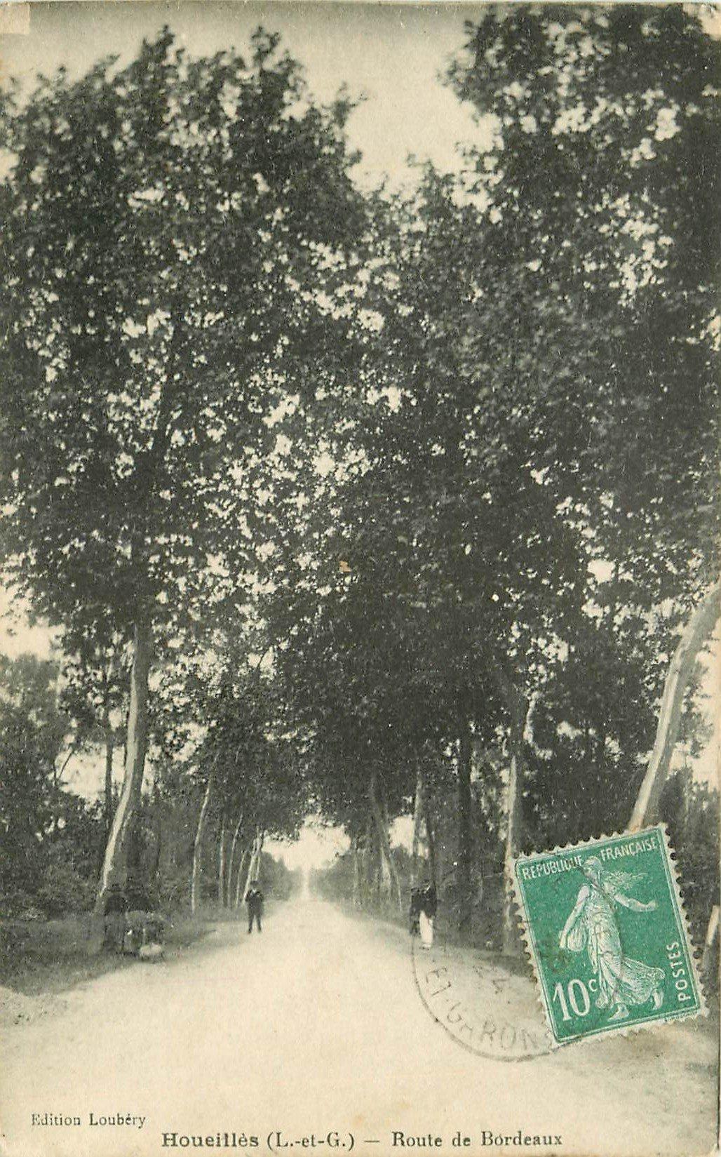 47 HOUEILLES. Route de Bordeaux 1924