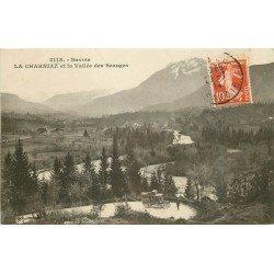 73 LA CHARNIAZ. Petit autocar sur la Vallée des Beauges 1914