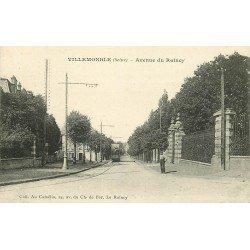 93 VILLEMOMBLE. Tramway électrique sur l'Avenue de Raincy