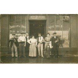 PARIS IV. Rare Café Vins Fontan 32 rue des Rosiers. Photo carte postale ancienne 1906