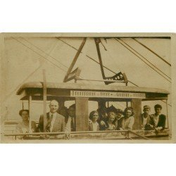 65 LOURDES. Téléférique du Béout vers le Gouffre. Photo carte postale ancienne