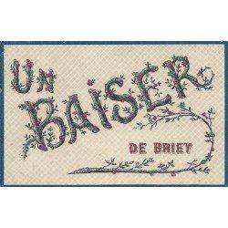 54 BRIEY. Un Baiser avec ajoutis de brillants coloriés 1906