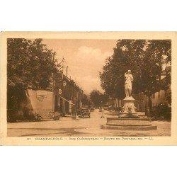 39 CHAMPAGNOLE. Voiture devant le Garage rue Clémenceau Route de Pntarlier 1935