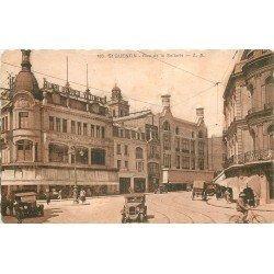 02 SAINT-QUENTIN. Voitures anciennes decant Magasin Devred rue de la Sellerie vers 1932