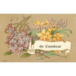 59 CAMBRAI. Amitiés avec bouquet de Fleurs 1923
