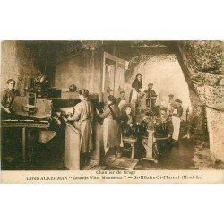 49 SAINT-HILAIRE SAINT-FLORENT. Chantier de tirage des Vins Mousseux Caves Ackerman