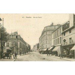 93 PANTIN. Café Tabac rue de Paris et la Fabrique de vinaigres 1925