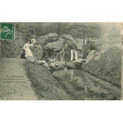 92 ASNIERES-SUR-SEINE. Le Drain et la Sortie au Jardin Modèle 1908