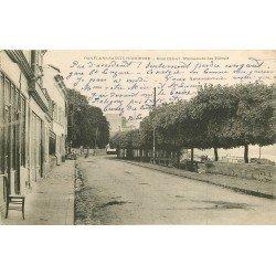78 CONFLANS-SAINTE-HONORINE. Quai Cahart et Café au bout Promenade des Tilleuls 1903