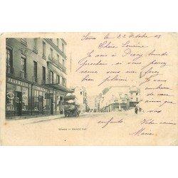 92 SEVRES. Pharmacie et attelage sur Grande Rue 1903