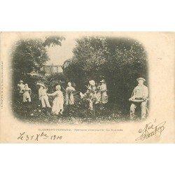 63 CLERMONT-FERRAND. Danse la Bourrée à la Fontaine Pétrifiante 1900