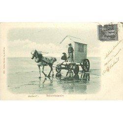 62 CALAIS. Voiture baignoire pour Touristes et Pêcheurs. Timbre 1 centime 1901