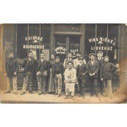 PARIS XI° Café Vins maison Doidy 26 rue des Trois Bornes. Photo carte postale ancienne vers 1910