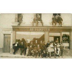 """94 CHEVILLY-LARUE Rungis. Maison Landais Café Restaurant Hôtel """" Au Pompier """" 241 Avenue de Stalingrad. Photo Carte postale"""