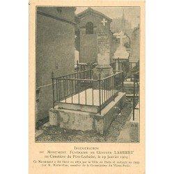 PARIS XX° Cimetière du Père Lachaise. Inauguration Monument de Gustave Lambert en 1924 Hydrographe Navigateur
