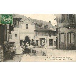 73 LE CHATELARD. Femmes à la Fontaine sur la Place Principale 1914 Vallée des Bauges