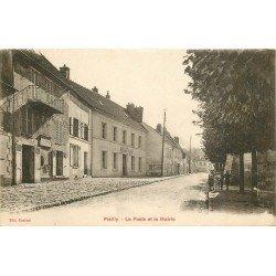 60 PLAILLY. La Poste et la Mairie 1928