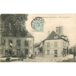 18 CHATEAUNEUF-SUR-CHER. Magasin de confection Place de la Mairie 1906
