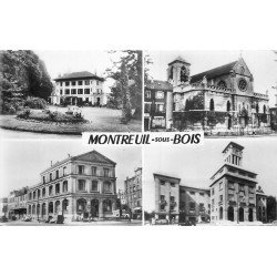 93 MONTREUIL-SOUS-BOIS. Carte postale semi-moderne avec multi-vue