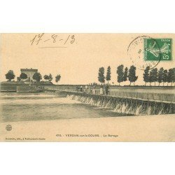 71 VERDUN-SUR-LE-DOUBS. Animation sur le Barrage 1913