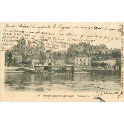 41 SAINT-AIGNAN-SUR-CHER. Vue générale sur les Lavoirs et le Café Restaurant 1908