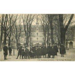 85 FONTENAY-LE-COMTE. Ecoliers au Collège Municipal 1909