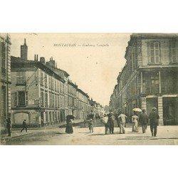 82 MONTAUBAN. Tabac sur le Faubourg Lacapelle. Tampon franchise militaire 1918 F.M