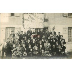 carte postale ancienne 38 BEAUREPAIRE. Concert des Classes. Carte Photo Rare et impeccable