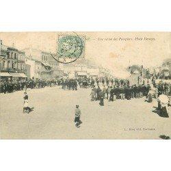 33 LIBOURNE. Une Revue de Pompiers Place Decazes 1907