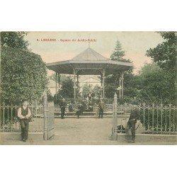 33 LIBOURNE. Facteur et son vélo sur le Kiosque à musique Square du Jardin Public 1906