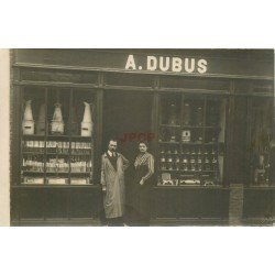 PARIS XIème. Magasin de couleur A. Dubus au 49 rue Popincourt. Photo carte postale rare 1912