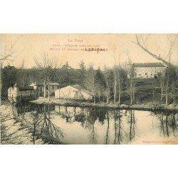 81 BUSQUE. Moulin à eau et Château de Lézignac 1913