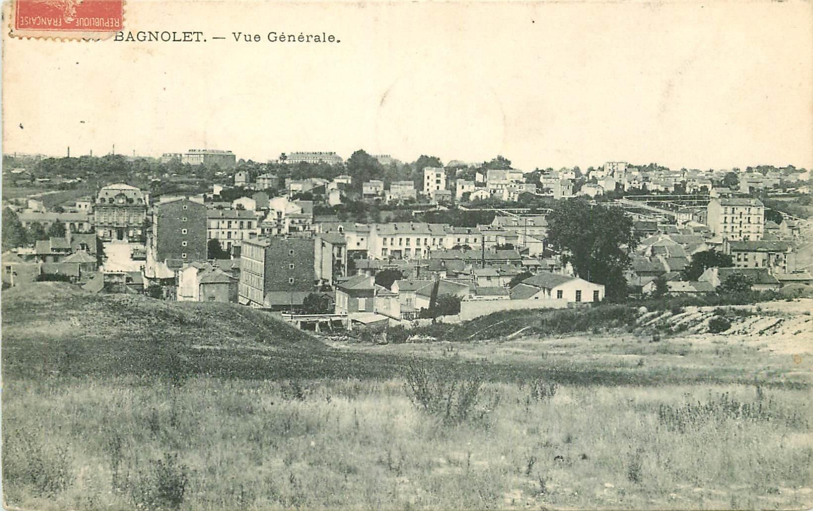 93 BAGNOLET. Vue générale prise des Buttes 1907