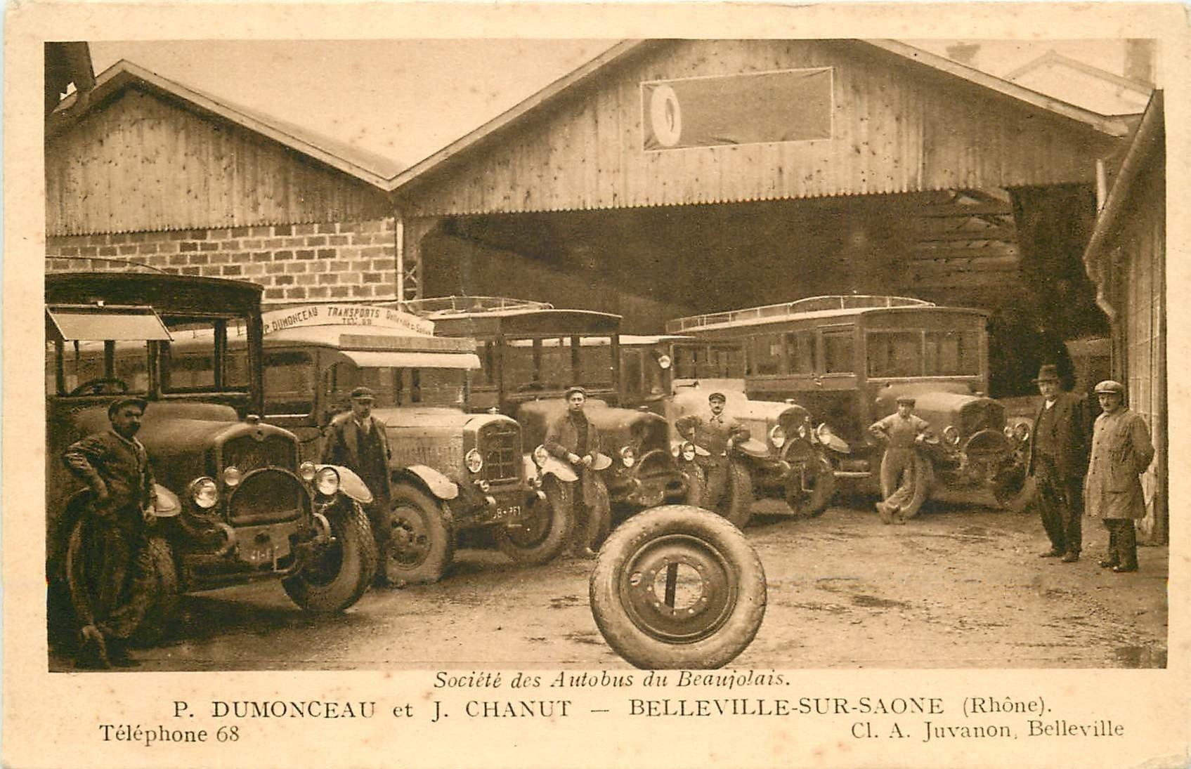 69 BELLEVILLE-SUR-SAONE. Société des Autobus du Beaujolais par Dumonceau et Chanut