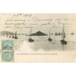 29 DOUARNENEZ. Une sortie de Bateaux de Pêche. Pêcheurs et métiers de la Mer 1903