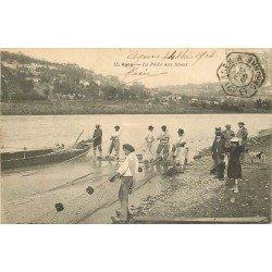 47 AGEN. La Pêche aux Aloses 1902. Métiers de la Mer