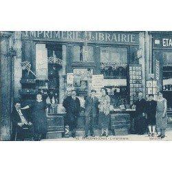 18 SANCOINS. L'Imprimerie Librairie et commerce de cartes postales