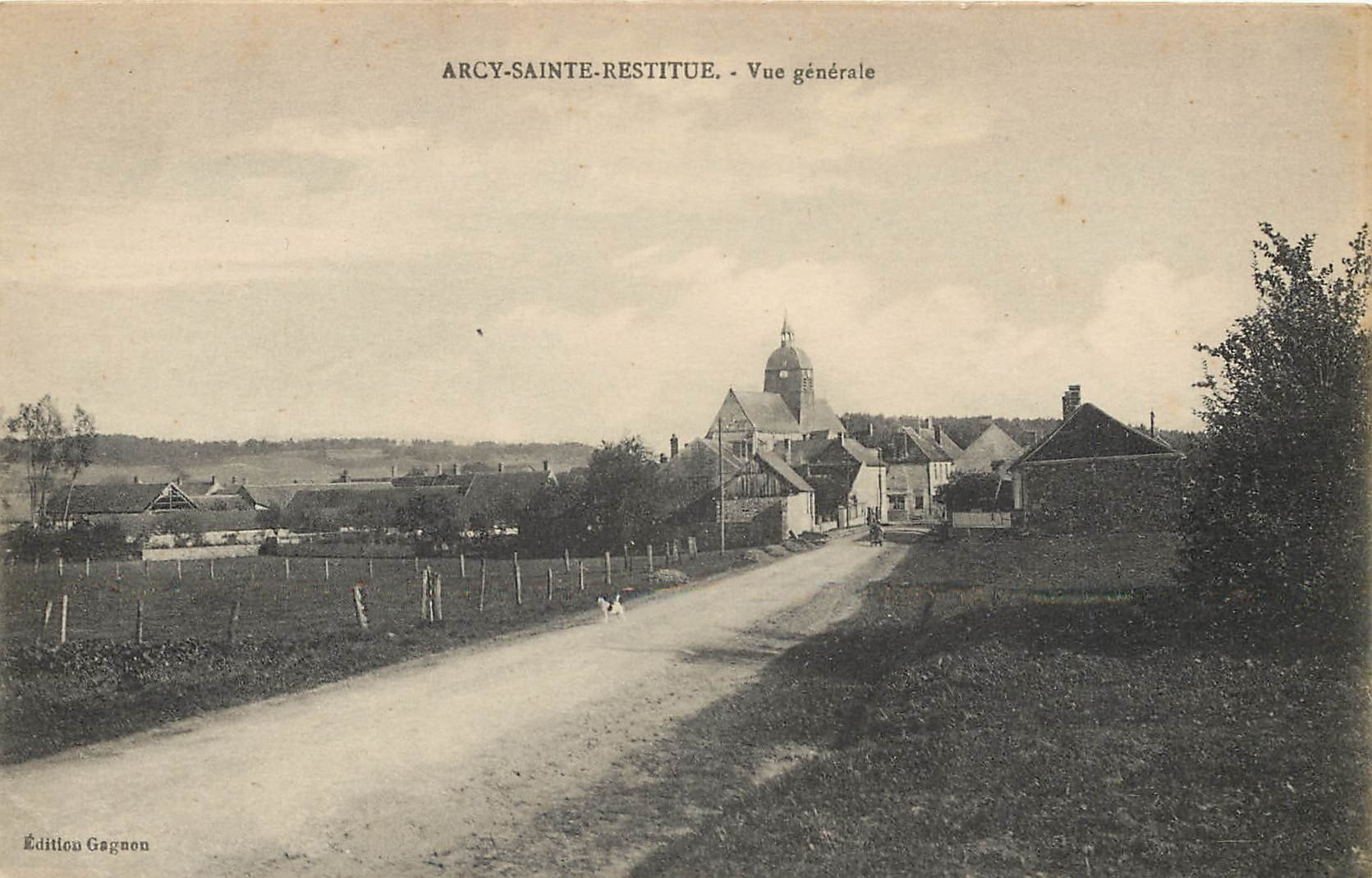 02 ARCY-SAINTE-RESTITUE. La Route du Village 1917