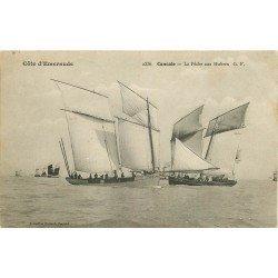 35 CANCALE. La Pêche aux Huîtres 1906. Barques et Pêcheurs