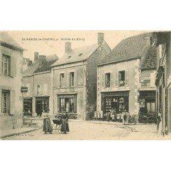 WW 58 SAINT-PARIZE-LE-CHATEL. Café Restaurant à l'Entrée du Bourg femmes avec landau