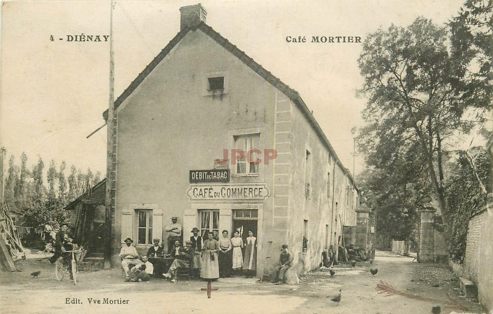 21 DIENAY. Café du Commerce et Tabac Mortier