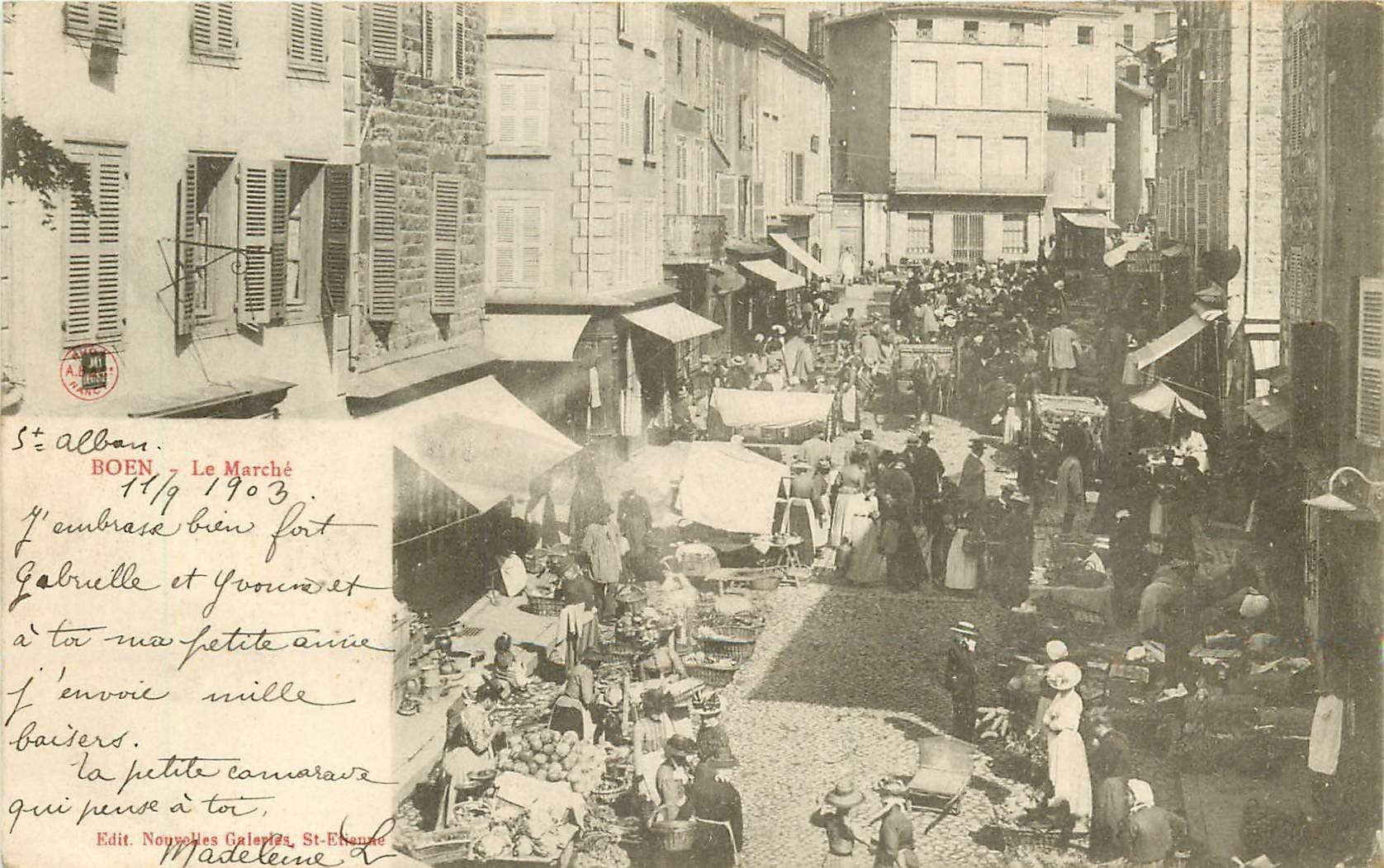WW 42 BOEN. Le Marché 1903