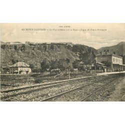 05 MONT-DAUPHIN. Le Fort et la Gare ligne de Gap à Briançon