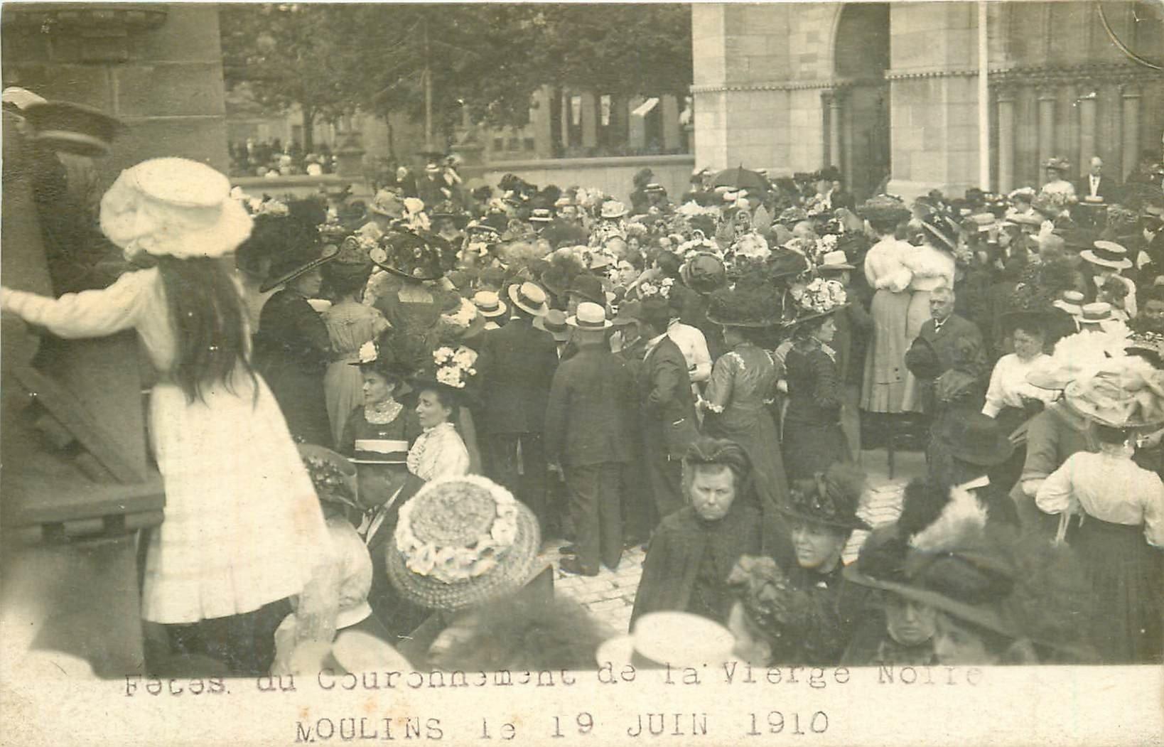 WW 03 MOULINS. Fêtes du Couronnement de la Vierge Noire en 1910