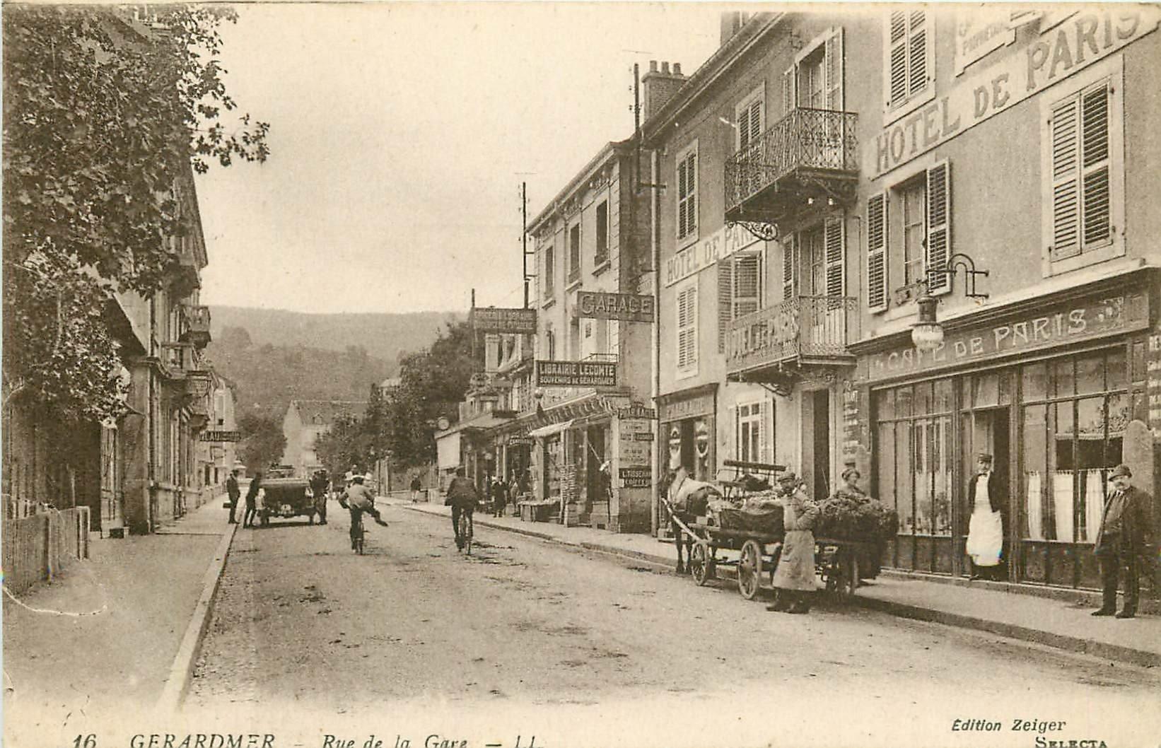 WW 88 GERARDMER. Magasin de cartes postales et Café Hôtel de Paris