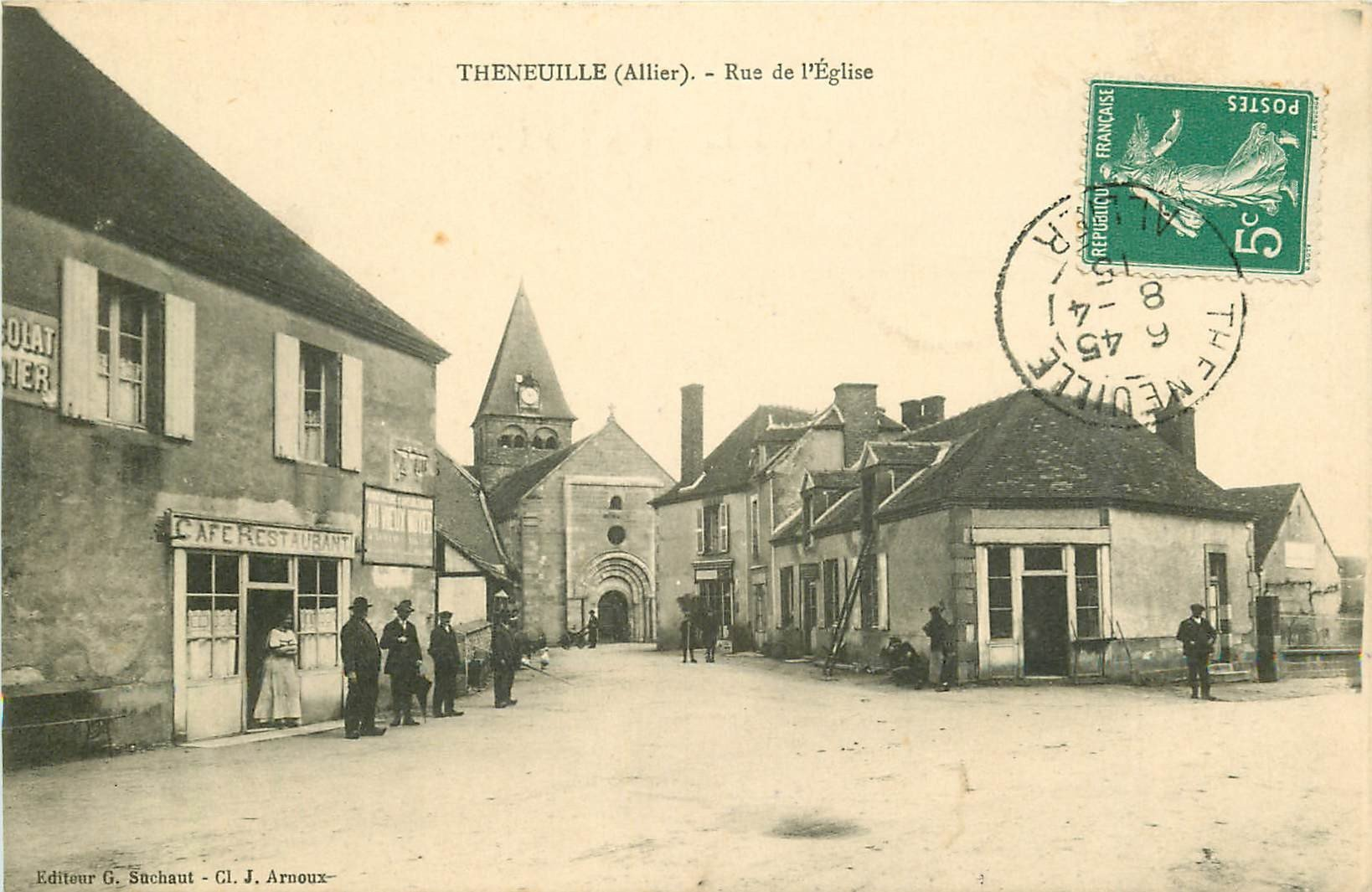 WW 03 THENEUILLE. Café Restaurant rue de l'Eglise 1915