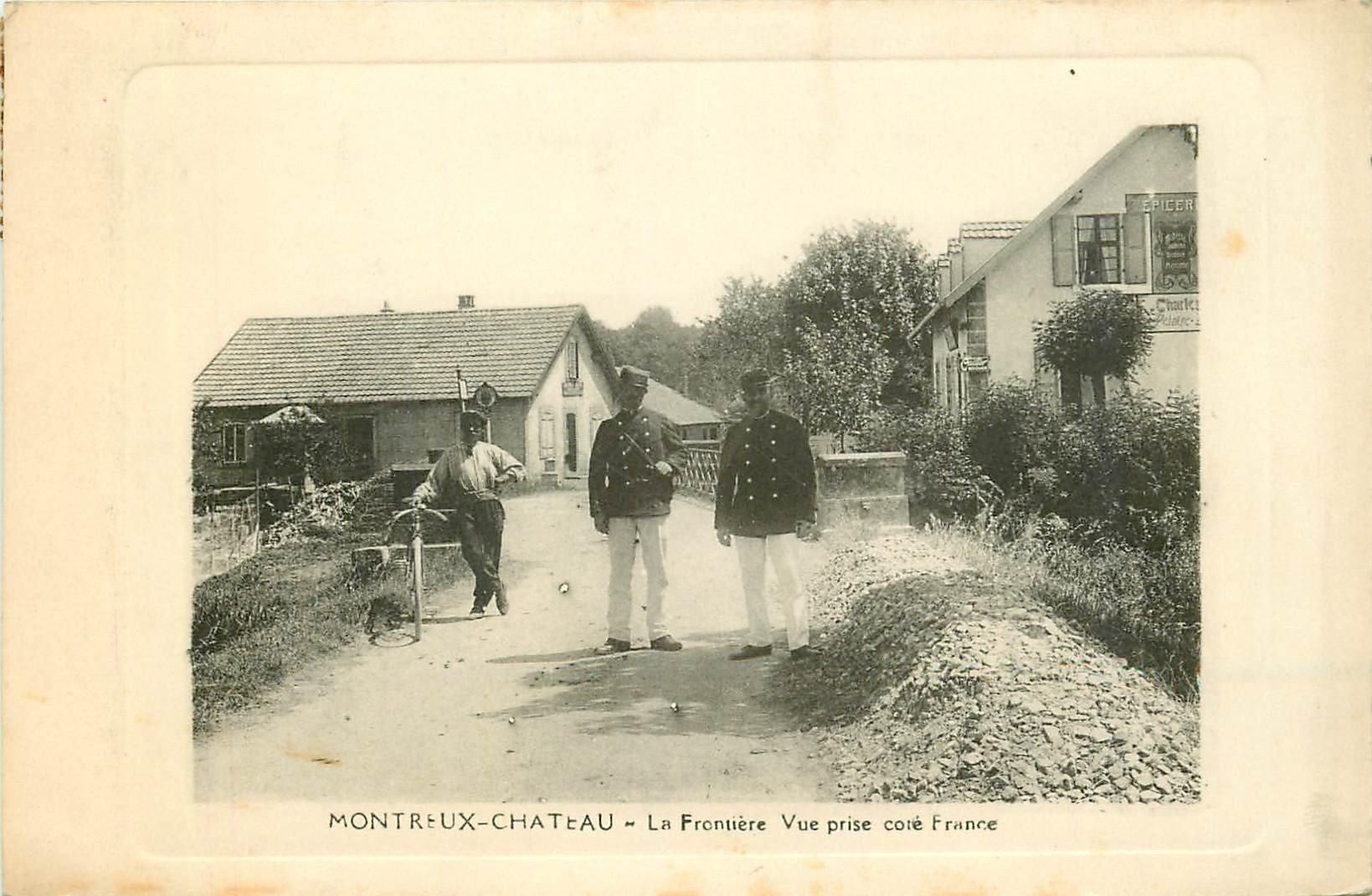 WW 90 MONTREUX-CHATEAU. Douaniers à la Frontière Franco-Alsacienne