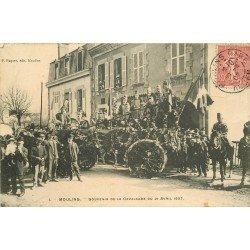 WW 03 MOULINS. Souvenir du Char de la Cavalcade en 1907 avec Hussards
