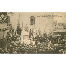WW 74 SAINT-GINGOLPH. Souvenir Inauguration Monument aux Morts 1922